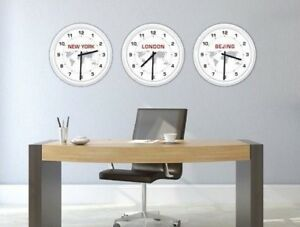 Image Is Loading Custom World Wall Clock Hotel Motel Office Business