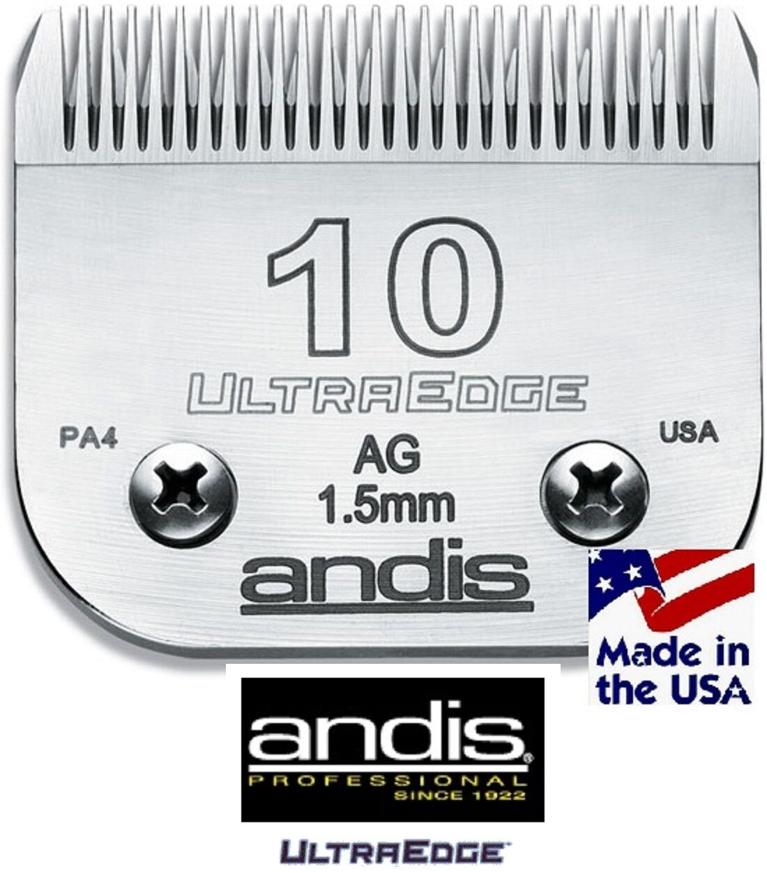 Dog Cat Pet Grooming Andis UltraEdge 10 BladeFits Most Oster,Wahl,Laube Clipper