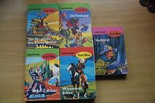 5 Bücher - KARL MAY Ausgabe Oberfläche rauh Old Firehand, Halbblut, Winnetous...