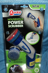 Quickie Household Power Scrubber Handheld Battery Powered Scrub - Battery powered scrub brush