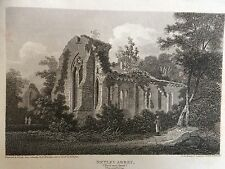 1805 Print of Netley Abbey from NE, Hampshire