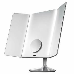 simplehuman-Wide-View-Sensor-Mirror-Chipped-Corner-Not-Connecting-With-App-B