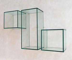 Mensole design cubi in vetro in diverse misure inclusi for Misure mensole