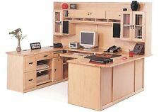 Executive Professional U Shaped Creative Ideas Maple Desk With Hutch