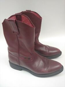Mens-Los-altos-boots-Work-Performance-Burgundy-Leather-Size-9-US