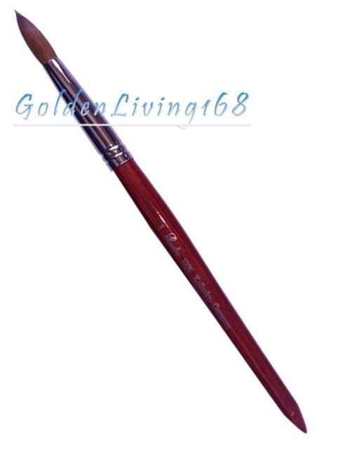 Pro Red Wood Kolinsky Acrylic Nail Brush Round size 8 10 12 14 16 18 20 22