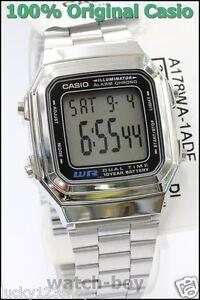 A178WA-1A-Genuine-Casio-Watch-Silver-Stainless-Steel-Band-E-Data-Bank-A-178WA