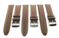 18-19-20-22-24mm Genuine Leather Band Strap Smooth For Invicta L/brown 16