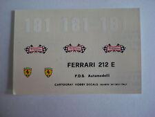 DECALS KIT 1/43 FERRARI 212E CAMPIONATO DELLA MONTAGNA 1969 N.181 SCHETTY