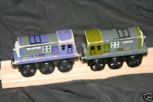 DODGE & SPLATTER - Thomas TrainWOOD-RARE