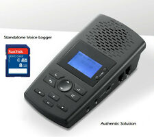 Landline Telephone Recorder Call Recorder Voice Logger 8GB Authentic ASA10