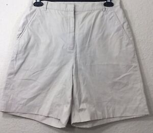 Brooks-Brothers-Women-039-s-Casual-Chino-Shorts-Size-12-Beige-Inseam-7-5-034