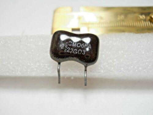 CM06FA22G03 22 pf 500 Volt 2/% Silver Mica Capacitor QTY 10 ea A1 NOS PREP