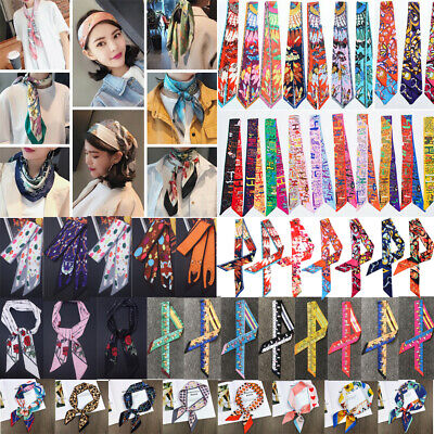 Scarves Twilly ribbon tied Small Ribbon Wraps Womens Clothing Accessories
