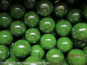 BULK LOT2 POUNDS 1 INCH SHOOTER MARBLES GREEN COLOR MEGA MARBLES FREE SHIPPING