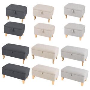 Fabric Stool Bench Padded Pouffe Footstool Window Seat Footrest Hallway Bedroom