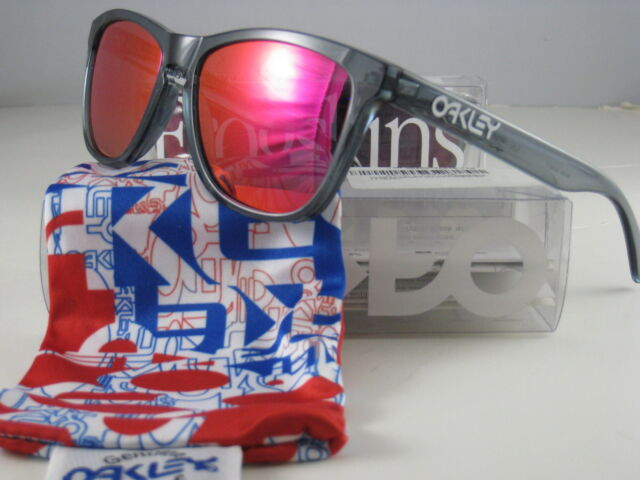 aa96446f2a ... official store oakley sunglasses frogskins limited edition crystal black  w ruby iridium 24 244 c010f aa756