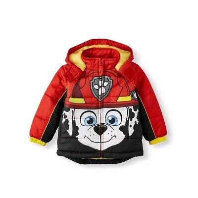 Girls Pink Paw Patrol Hooded Coat Mittens Hooded Parka Coat Jacket  1-2-3-4-5-6
