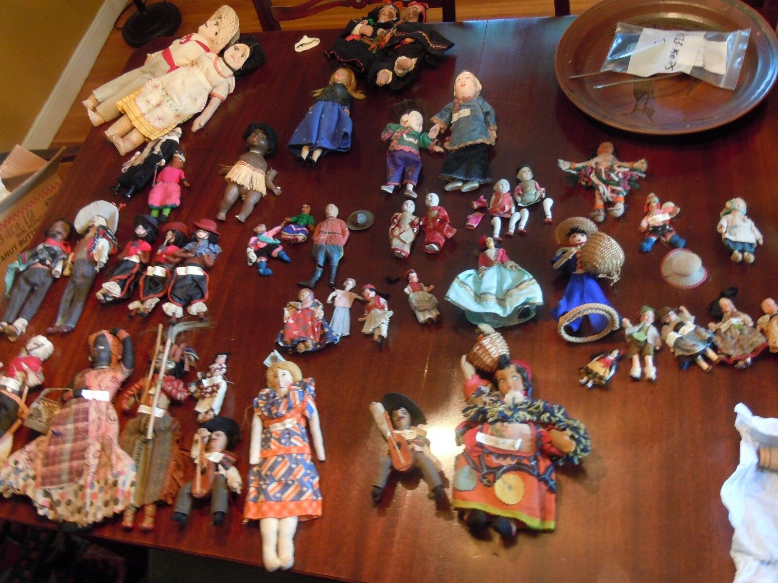 International Antique Doll Collection; Latin America, vintage, tribal, others