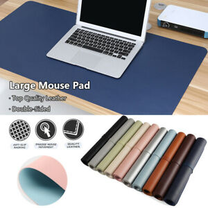Soft Modern Large Laptop Desktop Table Mat Mouse Pad Double-sided Leather