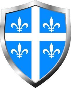 Quebec-Flag-Shield-Decal-Sticker