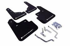 Rally Armor UR Black Mud Flap w/ White Logo For 2014+ Mazda3/Mazdaspeed3