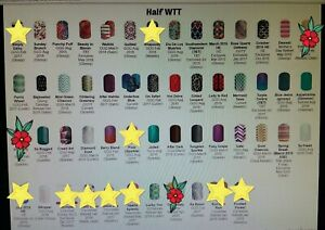Solids-Sparkles-Chevron-Design-ETC-Jamberry-nail-wraps-HALF-sheets