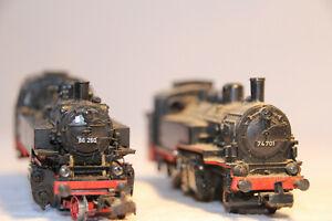25-2-Dampfloks-BR-74-74-701-und-BR-86-86-260-der-DB-von-Maerklin-in-H0