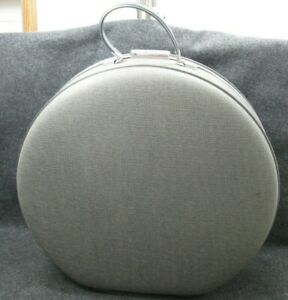 AMERICAN-TOURISTER-Vintage-Gray-19-Round-Hard-Train-Suit-Case-Luggage