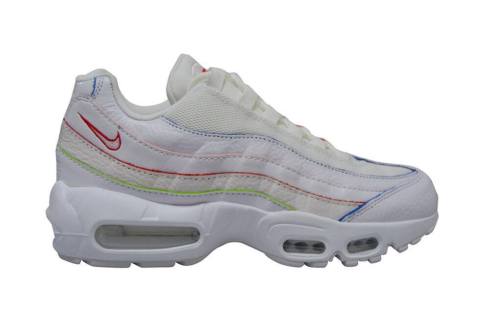 femmes hommes femmes nike air air air max 95 se rare - aq4138100 - Blanc rainbow formateurs belle couleur r 429fe3
