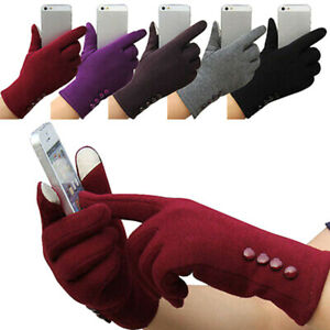Women-Winter-Outdoor-Warm-Touch-Screen-Gloves-Solid-Full-Finger-Mittens-Newly