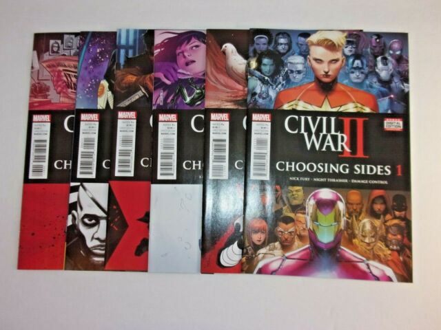 Civil War II: Choosing Sides #1-6 1 2 3 4 5 6 (Marvel 2016) Complete Set BX2402