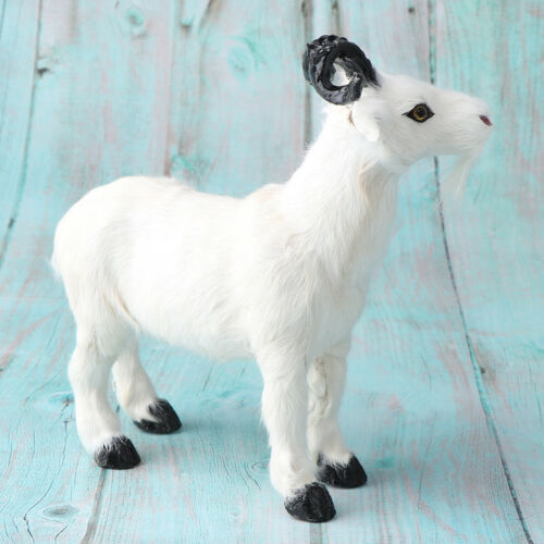 Cute Simulated Animal Decor Prop Gift Goat Model Home Desktop Decor Crafts