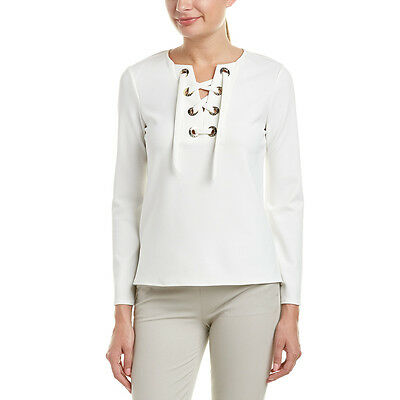 Vince Camuto Womens  Blouse, Xxs, White