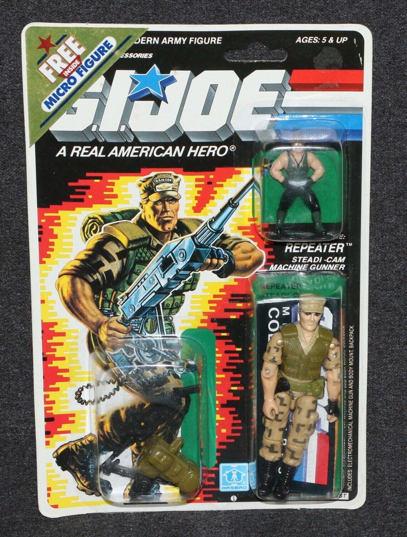 GI Joe ARAH 1988 MOC 3 3 4  Repeater Sgt. Slaughter Micro Figure