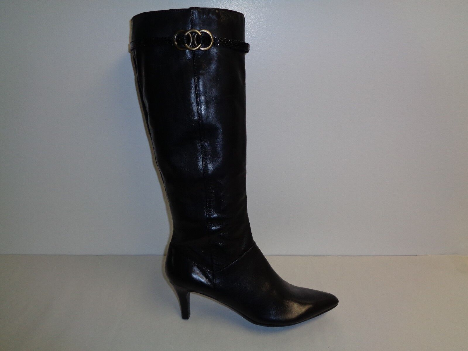 Bandolino Size 5 M GENERAL Black Leather Knee High Boots New Womens Shoes