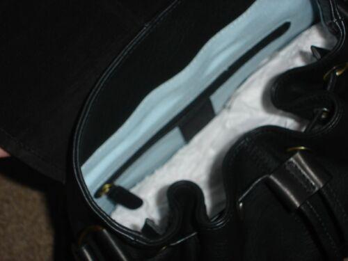 bandoulière Sac Bleu en Ocre cuir à noir qSwvvx