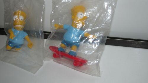 1990 Bart Simpson Skateboard /& Air Guitar PVC Figurines VTG Lot