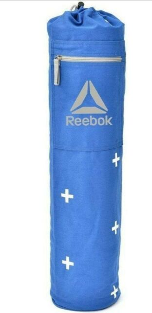 Reebok Yoga Mat Bag Zip Pocket Adjust Strap Modern Cross Pattern Blue For Sale Online Ebay