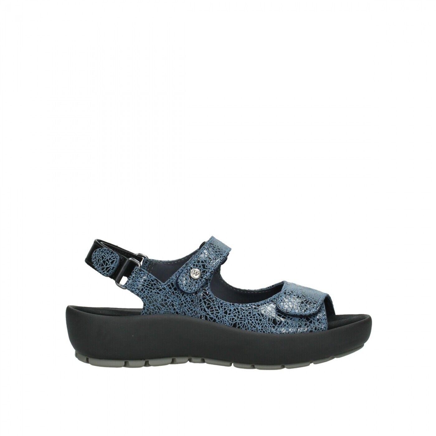 Wolky Rio Crash läder Denis kvinnor Casual gående Sandals