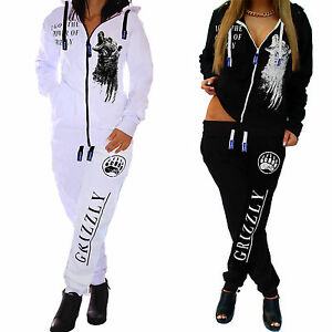 Mujer-Chandal-Chaqueta-para-Hacer-Footing-Pantalones-de-Deporte-Top-Grizzly