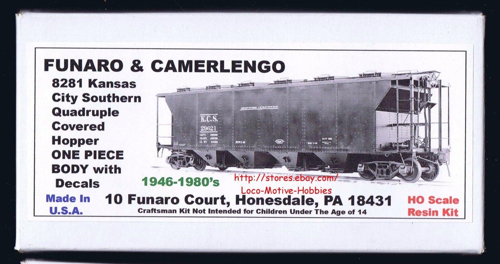 LMH Funaro F&C 8281  KANSAS CITY SOUTHERN  Quadruple KCS Covered Hopper  1 PIECE