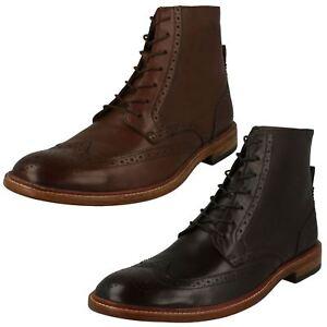 Mens Clarks Lace Up Brogue Boots James