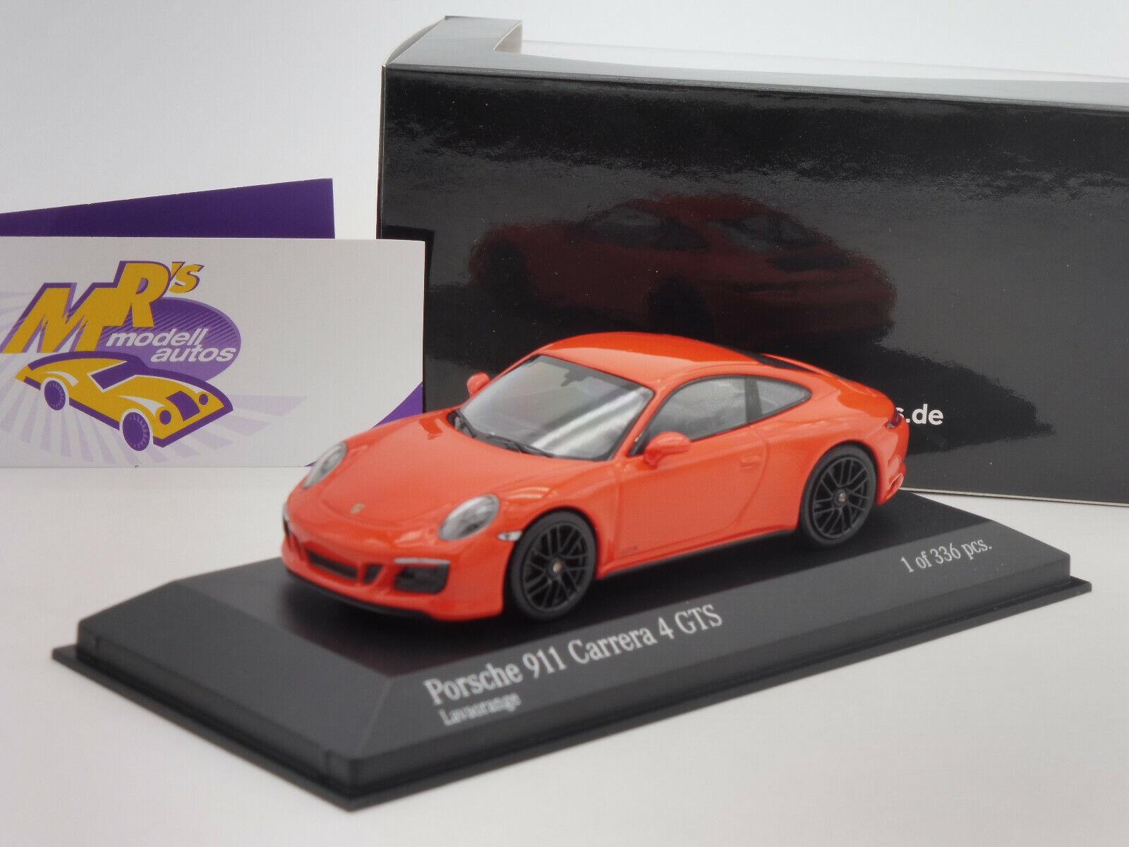 Minichamps 410067321   PORSCHE 911 (991.2) Carrera 4 GTS Bj. 2016   Orange  1 43