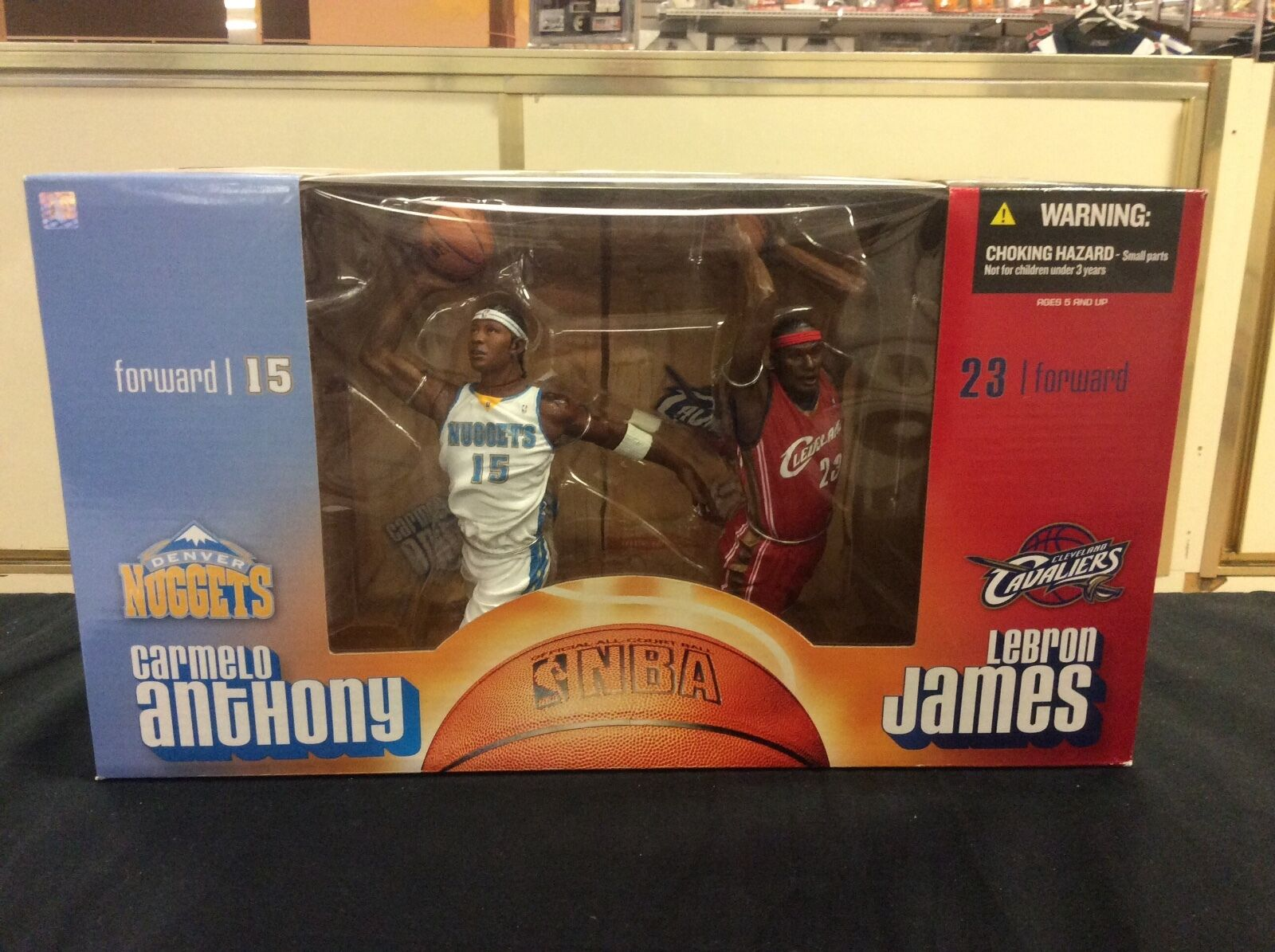 McFarlane 8  Carmelo Anthony and Lebron James Figures