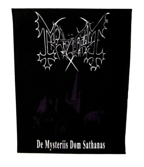 MAYHEM cd cvr DE MYSTERIIS DOM SATHANAS Official BACK PATCH New