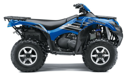 Set 4 Black//Blue Shock Covers Kawasaki Brute Force 650 750 4x4 Power Edition