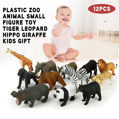 Plastik 6Pcs SCHLEICH WILDTIERE Wilde Tiere Spielfiguren Modell Spielzeug