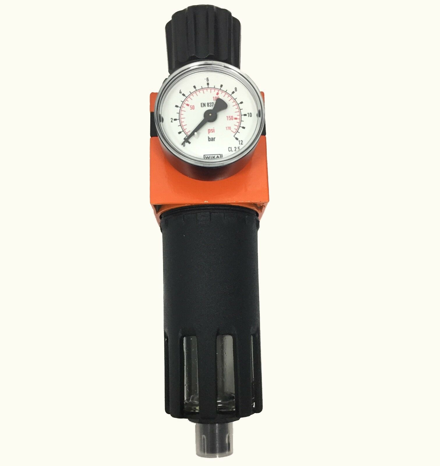 Filtro regulador rojouctor presión de aire para compresor 3 8  taza metal