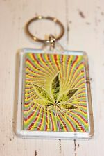 Schlüsselanhänger NEU bunt mehrfarbig Hanf Marihuana weed Hippie Dope High